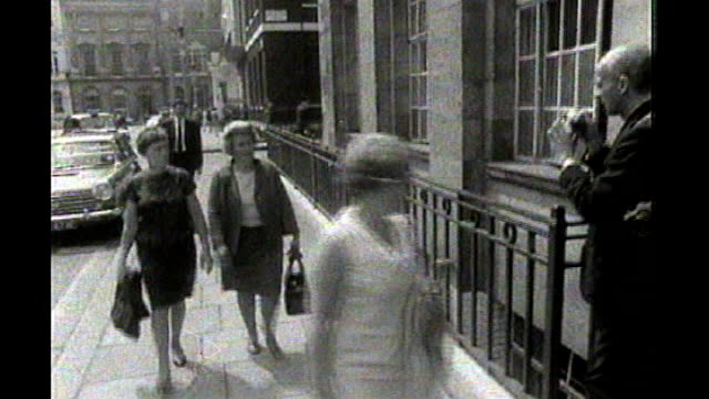 westminster women along into ministry of labour office b/w ends - dagenham stock videos & royalty-free footage