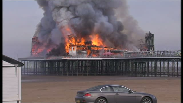westonsupermare's pier which was destroyed by a fire in the summer of 2008 reopens next weekend thousands of visitors are expected on saturday but... - weston super mare stock videos and b-roll footage