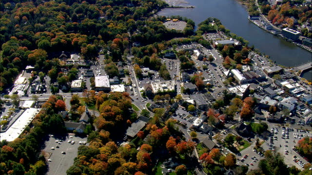 westport  - aerial view - connecticut,  fairfield county,  united states - connecticut stock videos & royalty-free footage