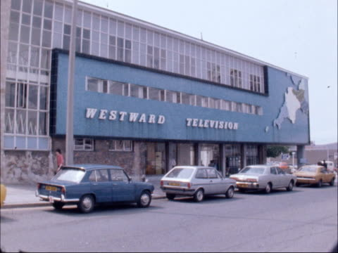 Westward TV board threatens former chairman Peter Cadbury ENGLAND Devon Plymouth Exterior Westward TV TX