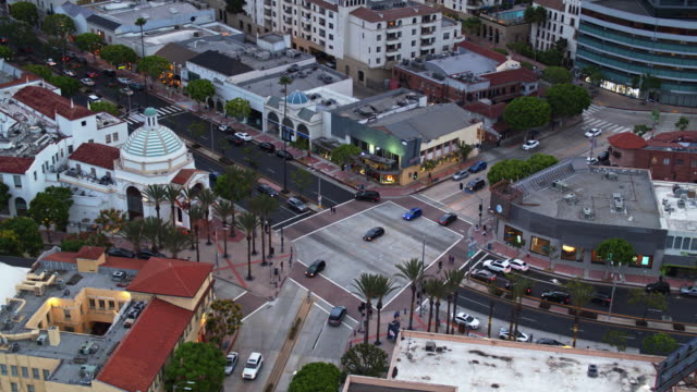 westwood and kinross, westwood village, los angeles - drone shot - westwood neighborhood los angeles stock videos & royalty-free footage