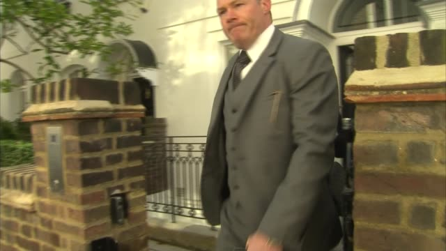 karren brady doorstep england london ext karren brady from house to car commenting that hmrc have not spoken to her sot / car away - corporate theft stock videos and b-roll footage