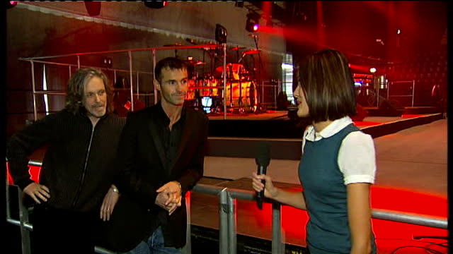 wet wet wet concert preview; england: london: wembley arena: int marti pellow and graham cunningham interview sot - discuss new album and forthcoming... - wet wet wet stock videos & royalty-free footage