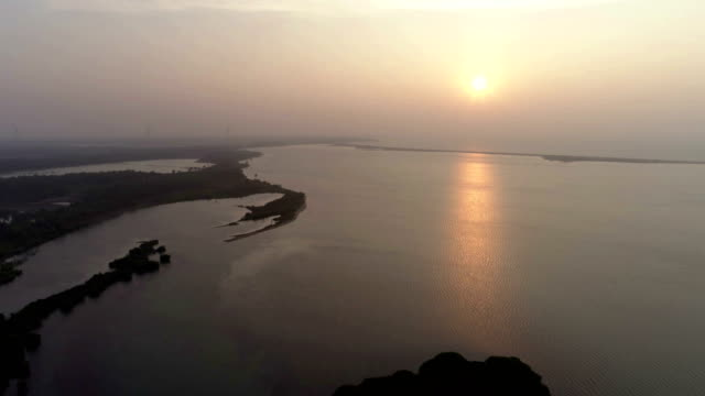 wetlands of western sri lanka - camminare nell'acqua video stock e b–roll