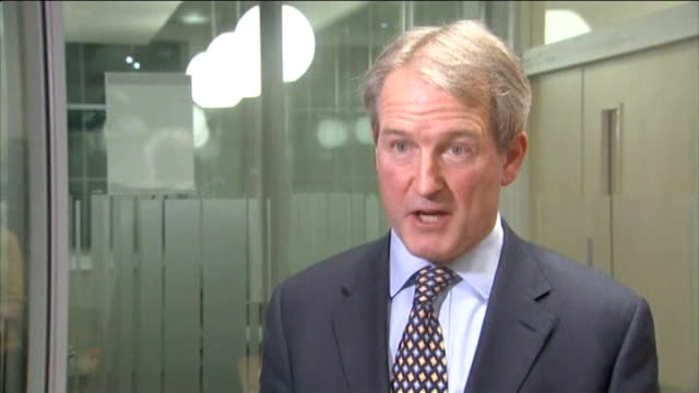 wettest january on record / flooding in somerset location unknown int owen paterson mp interview sot i set an arbitrary figure of six weeks because... - オーウェン・パターソン点の映像素材/bロール