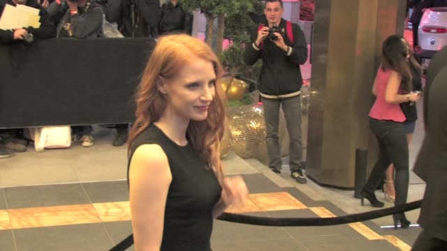 we've spotted american actress jessica chastain with boyfriend gian luca passi de preposulo at blood ties party in cannes cannes france on monday may... - cannes video stock e b–roll