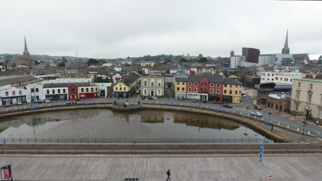 Wexford city center from above