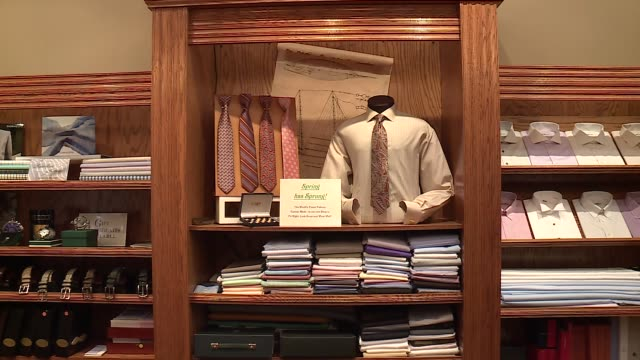 WGNMen's Dress Shirts on Display at Richard Bennett Custom Tailors in Chicago on June 23 2016
