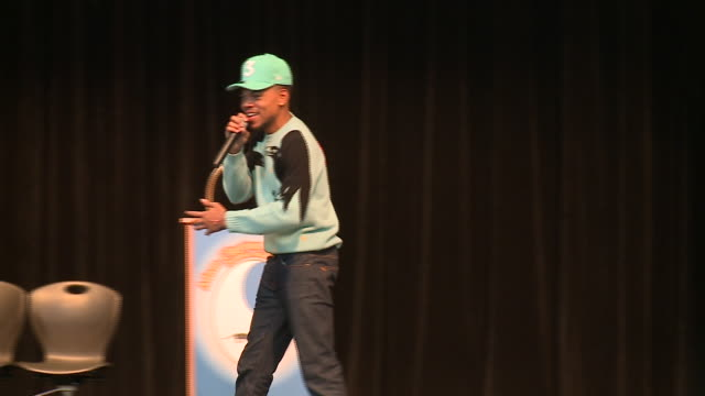 on dec 6 chance the rapper crashed a computer coding class before speaking at school assembly at chicago south side school adam clayton powell jr... - adam clayton powell jr stock videos & royalty-free footage