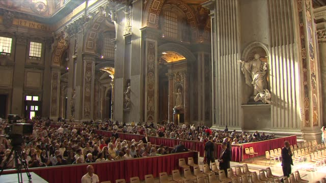 wgnpope francis celebrated mass for the feast of saints peter and paul in st peter's basilica during the mass the pope blessed the pallium which is a... - cathedral stock videos & royalty-free footage