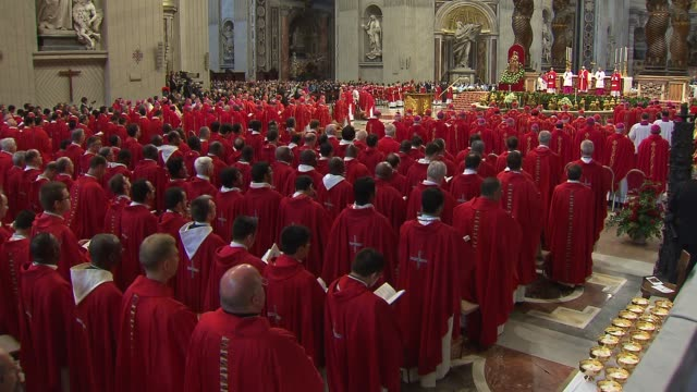 wgnpope francis celebrated mass for the feast of saints peter and paul in st peter's basilica during the mass the pope blessed the pallium which is a... - state of the vatican city stock videos & royalty-free footage
