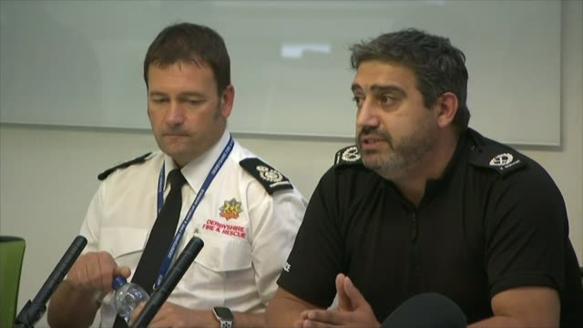 Thousands evacuated from town as dam at risk of bursting ENGLAND Derbyshire Whaley Bridge INT Assistant Chief Constable Kem Mehmet speaking to press...