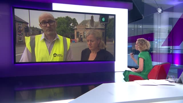 Whaley Bridge residents evacuate as new storms may cause dam to burst ENGLAND London GIR INT Daniel Greenhalgh and Ruth George MP LIVE 2WAY interview...