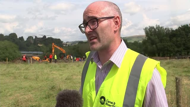 Whaley Bridge residents evacuate as new storms may cause dam to burst ENGLAND Derbyshire Whaley Bridge Toddbrook Dam EXT Daniel Greenhalgh interview...