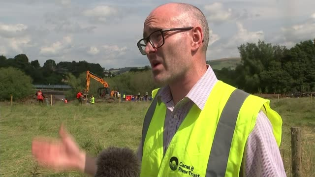 Whaley Bridge residents evacuate as new storms may cause dam to burst ENGLAND Derbyshire Whaley Bridge Toddbrook Dam EXT David Greenhalgh interview...