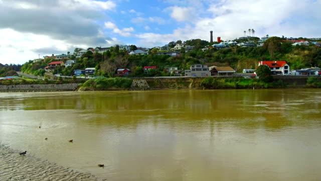 vídeos de stock, filmes e b-roll de cidade de whanganui - vazante