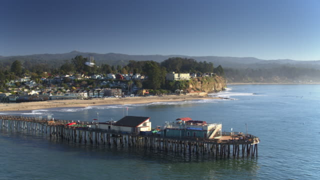 wharf and beach in capitola, ca - santa cruz county california stock videos & royalty-free footage