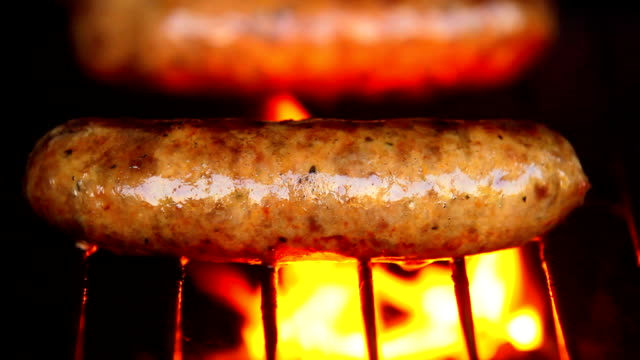 what a sausage. hd - grilled stock videos and b-roll footage
