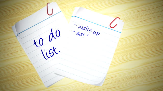 what i have to do today - to do list stock videos & royalty-free footage