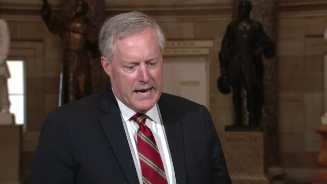what is chief of staff mark meadows tells a reporter that the presence of one positive coronavirus case had spit of negotiations but the president... - week stock videos & royalty-free footage