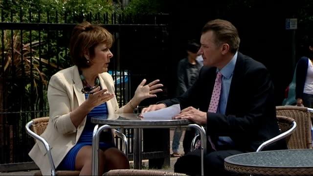 what would you cut report linda bellingham sitting chatting with reporter linda bellingham interview sot - lynda bellingham stock videos & royalty-free footage