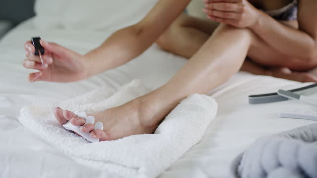 whatever the problem, a pedi is the cure - human finger stock videos & royalty-free footage