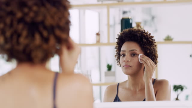 what's a beauty routine without toner? - make up stock videos & royalty-free footage