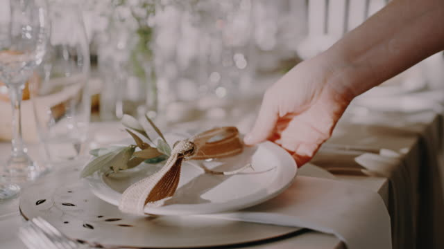 what's a wedding without delicious cuisine - place setting stock videos & royalty-free footage