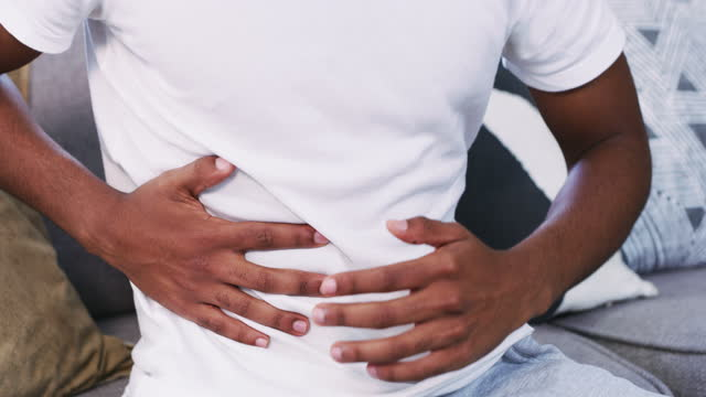 what's wrong with my stomach? - nausea stock videos & royalty-free footage