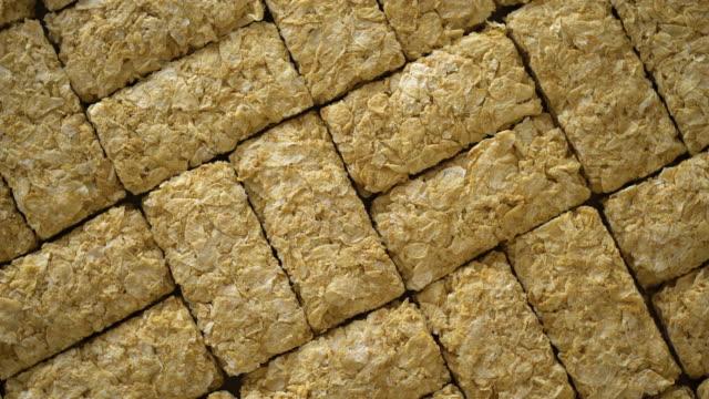 4k wheat biscuits turntable loop - top down view - buttermilk biscuit stock videos & royalty-free footage