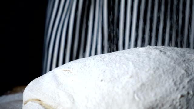 Wheat flour falling dough