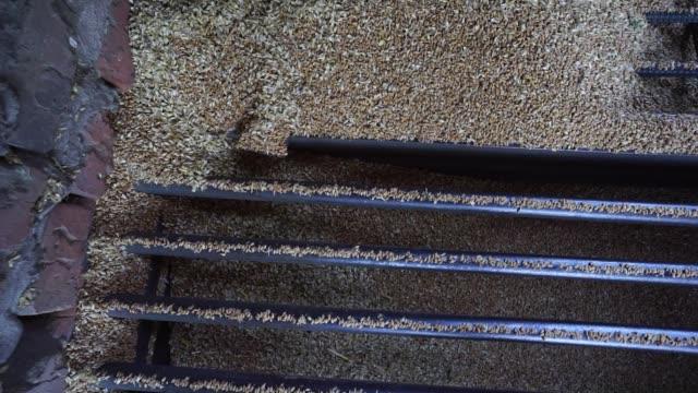 Wheat grain filters through grids in a storage silo in Chernihiv Ukraine on Thursday Aug 10 2017