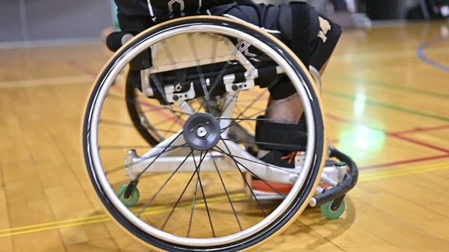 wheel chair basket ball - unrecognizable person stock videos & royalty-free footage