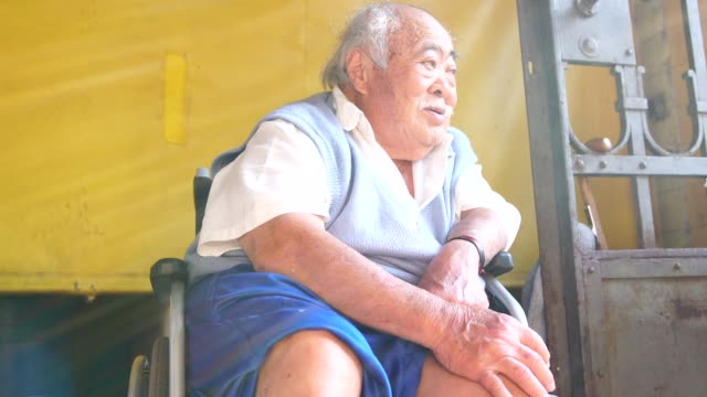 wheelchair asian senior men portrait - over 80 stock videos and b-roll footage