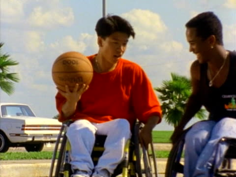 wheelchair basketball - wheelchair basketball stock videos and b-roll footage