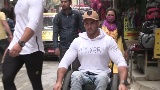 wheelchair bound australian is aiming to become the first paraplegic to reach everest base camp unaided a breathless trek he reckons he will make... - paraplegic stock videos & royalty-free footage