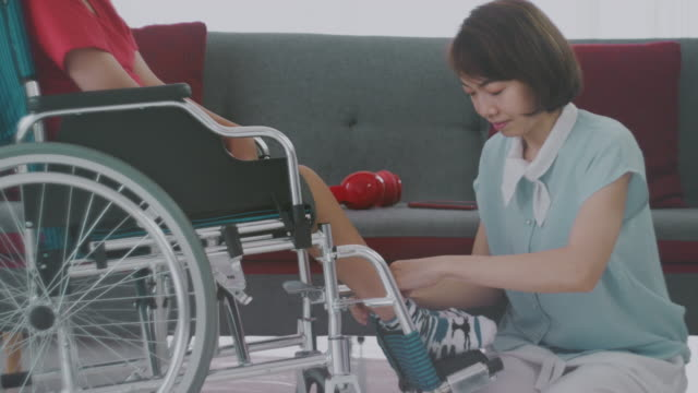 wheelchair : persons with disabilities - emotional support stock videos & royalty-free footage