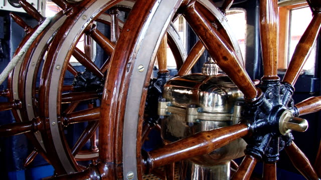 wheelhouse old sailing ship - helm stock videos and b-roll footage