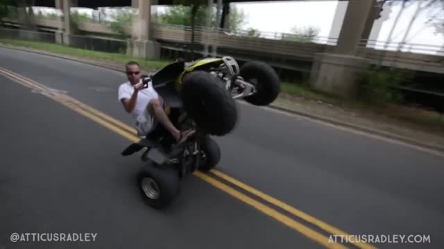 when a friend asked this guy to film them riding dirt bikes and atv's through the streets of waterbury, connecticut, he had no idea what he was about... - motocross stock videos & royalty-free footage