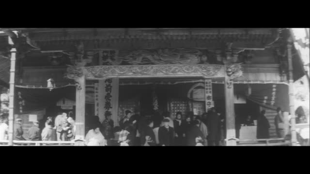 when believers climb the stairs/taking the bus to yakuo-ji, nakamise, inside the hall, leaving a 1-yen coin on the stone steps before starting to... - pilgrim stock videos & royalty-free footage