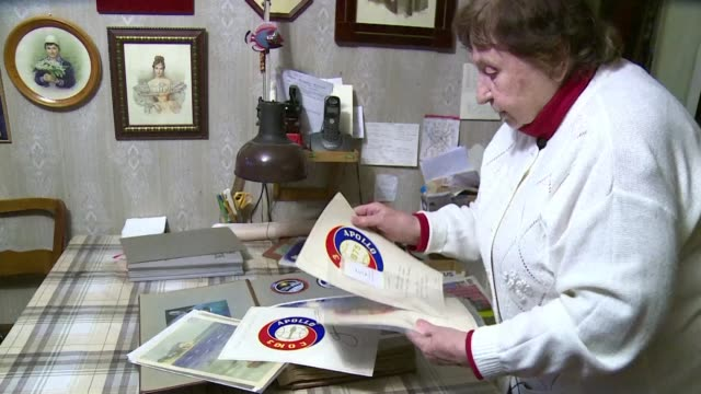 when galina balashova designed her first space habitation module for soviet cosmonauts she drew a landscape on its interior wall something that could... - korolev russia stock videos and b-roll footage