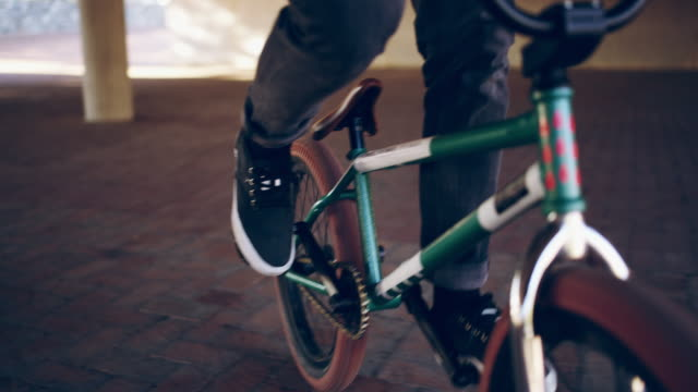 when in doubt, pedal it out - bmx cycling stock videos and b-roll footage