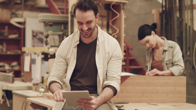 where technology meets craftsmanship - craftsperson stock videos & royalty-free footage