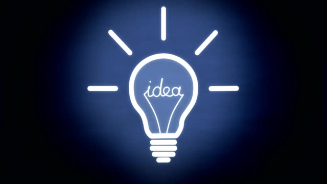 where you turn on the light bulb of an idea? - intellectual property stock videos and b-roll footage