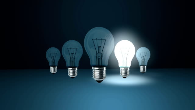 where you turn on the light bulb of an idea? - light bulb stock videos and b-roll footage