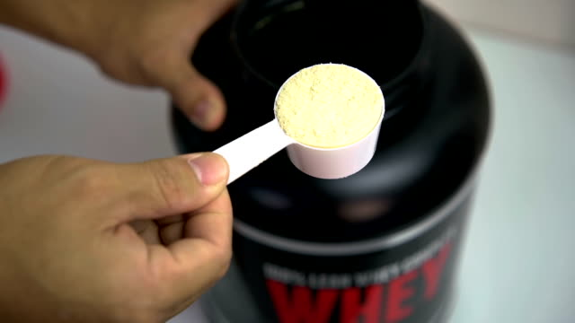 Whey protien close up.