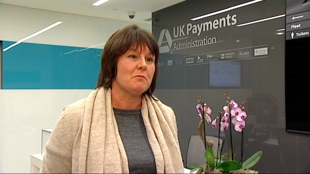 which calls for investigation into processing charges itn reporter through lift doors to offices of uk cards association sandra quinn interview sot... - odeon cinemas stock videos & royalty-free footage