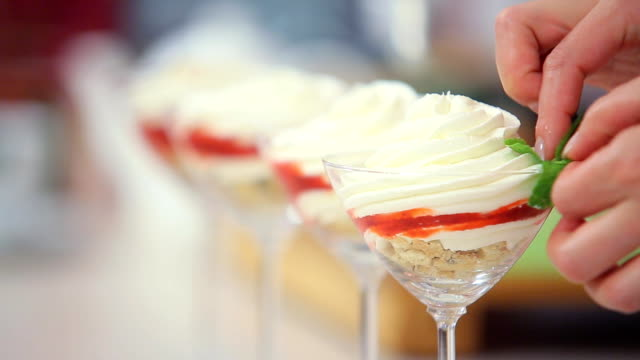whipped cream and mint - whipped cream stock videos & royalty-free footage