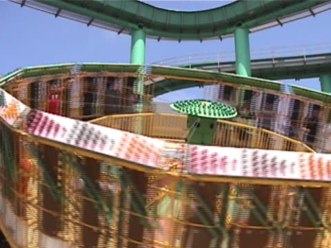 whirling amusement ride - fairground ride stock videos & royalty-free footage