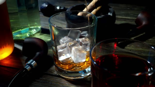 whiskey and tobacco - scotch whiskey stock videos & royalty-free footage